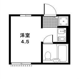 東京都目黒区八雲1丁目の賃貸マンションの間取り