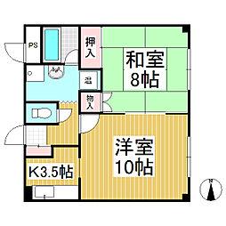 ノヤマビル[3階]の間取り