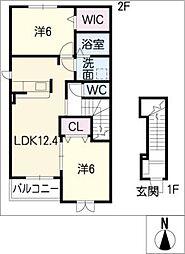ラ ベレッサ[2階]の間取り