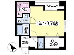 らくりーぶ21聖蹟桜ヶ丘[307号室]の間取り