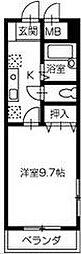 徳島県徳島市福島2丁目の賃貸マンションの間取り
