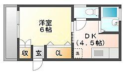 セジュール舞子[1階]の間取り