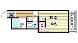 エクセル戸浪[3階]の間取り