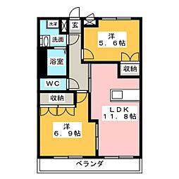 桜エクセレント[2階]の間取り