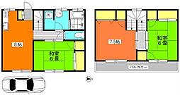[テラスハウス] 神奈川県横浜市青葉区元石川町 の賃貸【/】の間取り