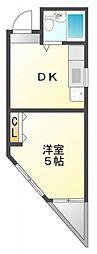 ルンルン江坂[4階]の間取り