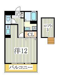 セレニティーホームズC[2階]の間取り