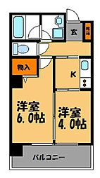 エコノ桜坂[301号室]の間取り