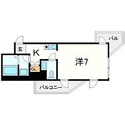 インターフェルティR2甲子園[7階]の間取り