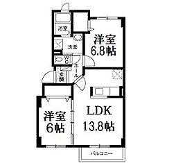 北海道札幌市白石区北郷四条4丁目の賃貸マンションの間取り