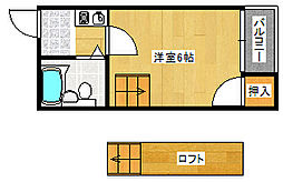 JPアパートメント住之江[3階]の間取り