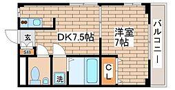 兵庫県神戸市長田区菅原通2丁目の賃貸マンションの間取り