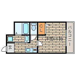 兵庫県神戸市須磨区衣掛町5丁目の賃貸マンションの間取り