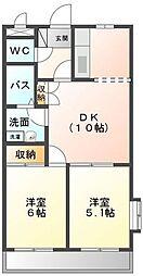 フェリシアSUZUKI[201号室]の間取り