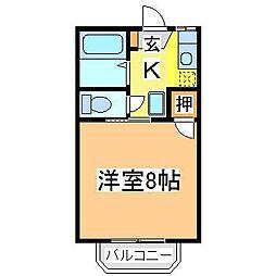 広島県東広島市西条町寺家の賃貸アパートの間取り