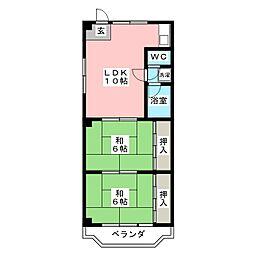 メゾンナガタ[4階]の間取り