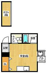 京都府京都市伏見区南尼崎町の賃貸アパートの間取り