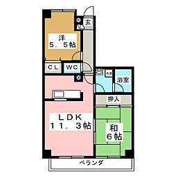 沖野マンションI[3階]の間取り