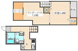 グレイスガーデン箱崎[1階]の間取り