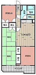 アドリーム守恒 604号室[6階]の間取り