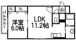 北海道札幌市白石区東札幌六条6の賃貸マンションの間取り
