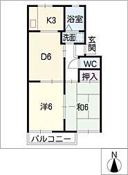 ミヒロハイツ パートII[2階]の間取り