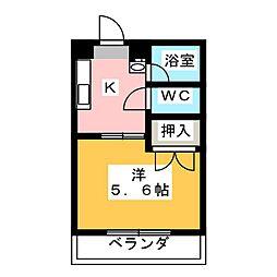 高道ハイツ[3階]の間取り