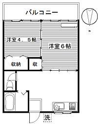 松田ハイツA[103号室]の間取り