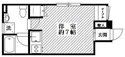 東京都世田谷区上野毛4丁目の賃貸マンションの間取り