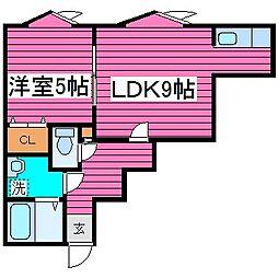 北海道札幌市東区北三十七条東14の賃貸アパートの間取り