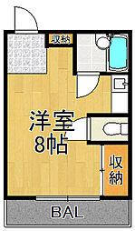 プチグレイス7番館[3階]の間取り