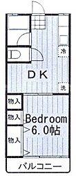 神奈川県横浜市南区別所5丁目の賃貸アパートの間取り
