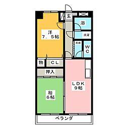 プリンス伝法寺[3階]の間取り