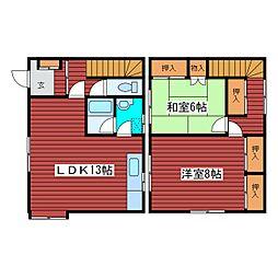 [タウンハウス] 北海道札幌市豊平区月寒東二条4丁目 の賃貸【/】の間取り