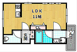 サンドール八番館[3階]の間取り