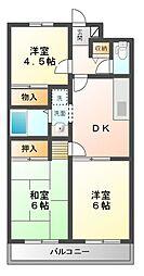 小倉第2マンション[3階]の間取り