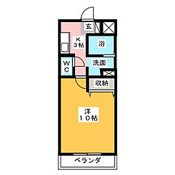 メリッサ原田[3階]の間取り