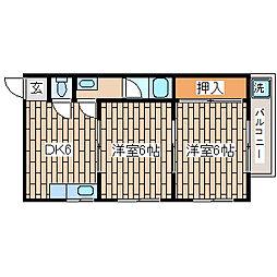 兵庫県神戸市須磨区妙法寺字円満林の賃貸アパートの間取り