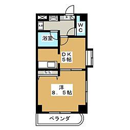沖野マンションII[6階]の間取り