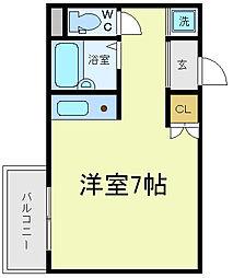 シティハウス天王寺[4階]の間取り