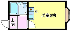 レジデンス鳳[3階]の間取り