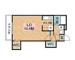 佐賀県佐賀市神野東2丁目の賃貸マンションの間取り