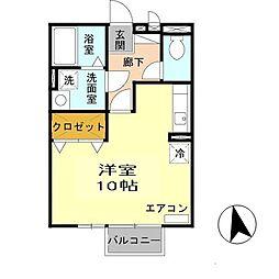 兵庫県姫路市広畑区吾妻町3丁目の賃貸アパートの間取り