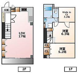 マ・シャンブル[1階]の間取り