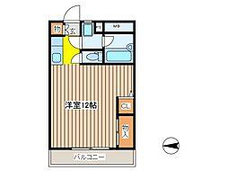 ファミーユトキワ[3階]の間取り