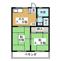 アーバン富士見[2階]の間取り