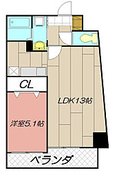 THE SQUARE Suite Residence[401号室]の間取り