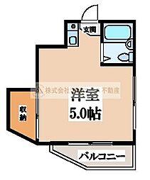 コサエールマンション[2階]の間取り