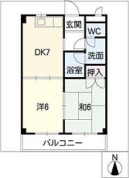 コーポワシノ[2階]の間取り