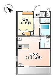 仮 北条町横尾新築アパートH30年3月[2階]の間取り